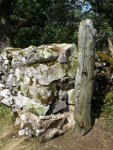 Helwith Bridge slate gatepost at Lower Winskill.